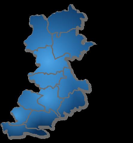 """Mapa LGD """"Równiny Wołomińskiej"""""""