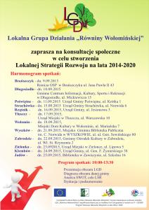 Plakat LGD Konsultacje LSR