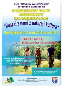 02.05.2016 - Plakat rajd rowerowy